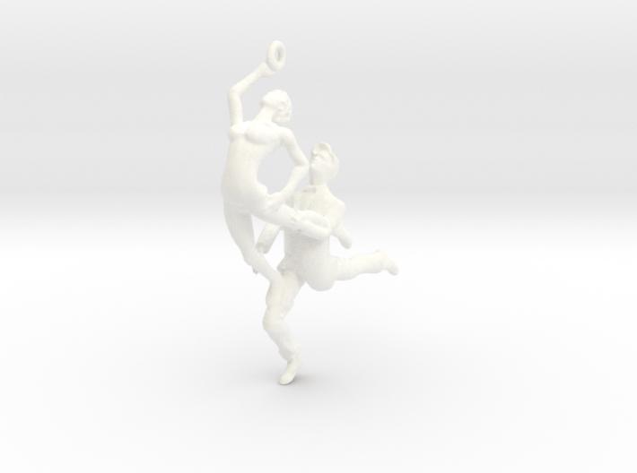 Dance LOVE Pendant-Earring 3d printed Dancing earring
