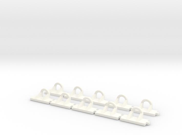 Hackenoese für Abrollbehälter 10Stück 3d printed