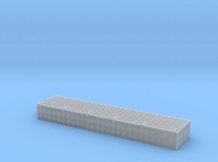 Dachkasten 46x10x5mm Mit Krähenfussblech-Schanier 3d printed