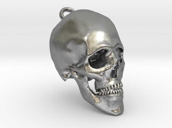 Human Skull With Loop 3d printed