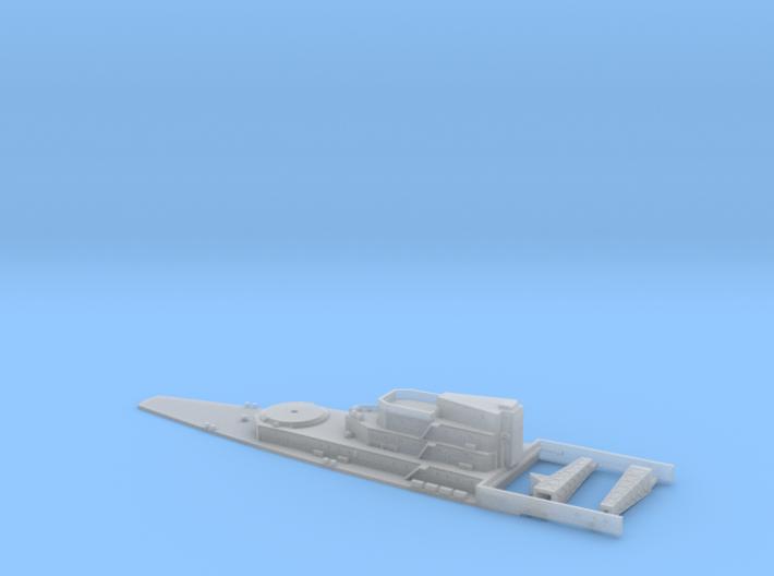 HMS Lion Aft Super Structure inc Details. 1/700 Sc 3d printed
