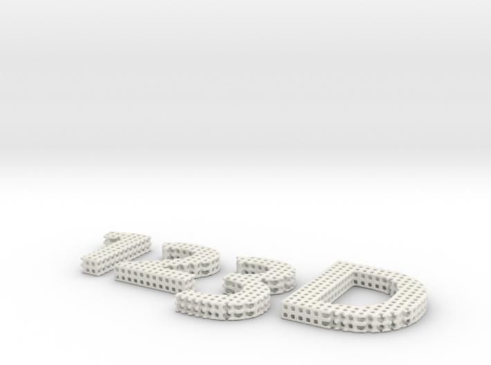 Autodesk 123d Logo 3d printed