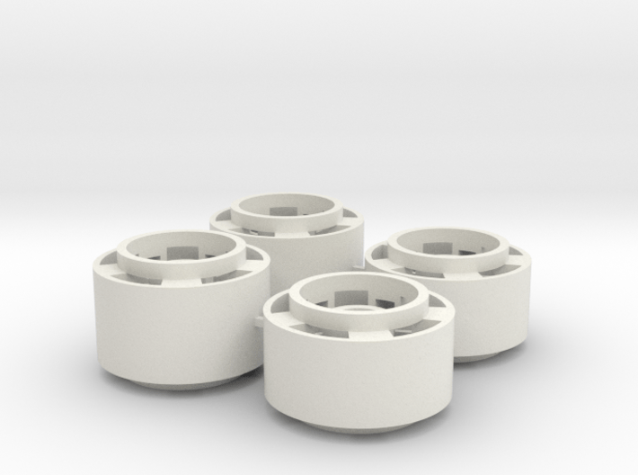 Mini-z F1 Wheelset with -2.5mm standard offset 3d printed