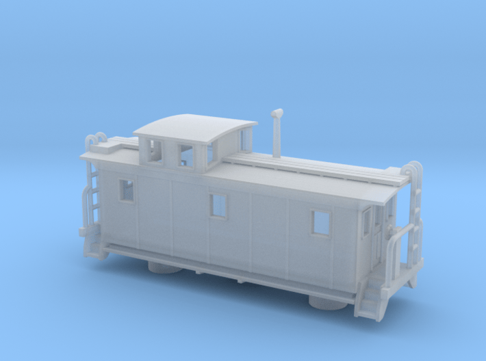 DMIR K1 Steelside Early Caboose - Zscale 3d printed