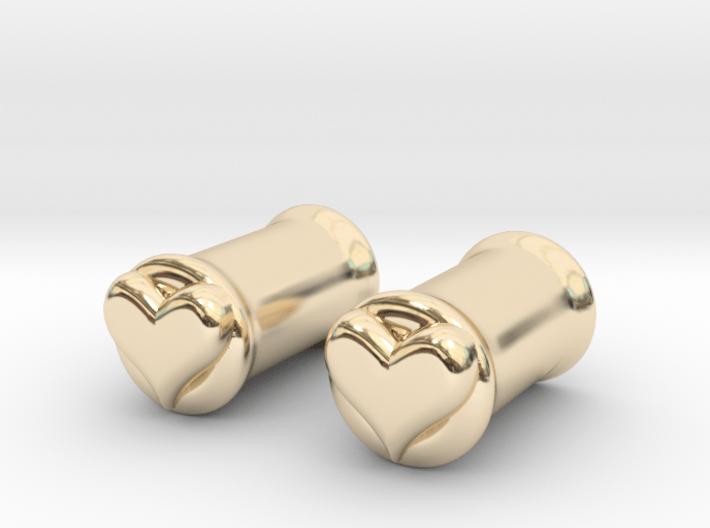 Heart 6mm (2 gauge) tunnels 3d printed