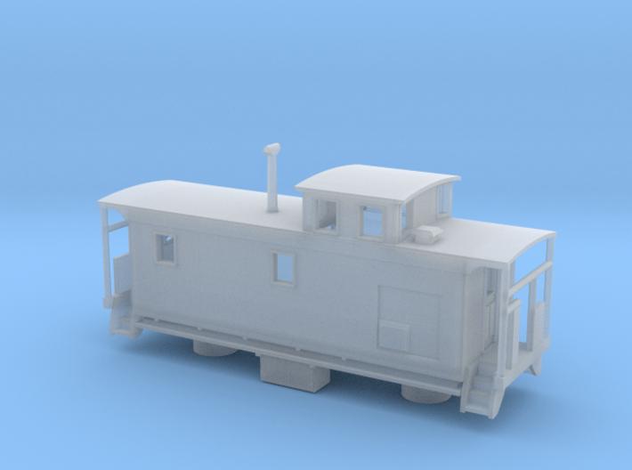 DMIR K1 Steelside Caboose Late - Nscale 3d printed
