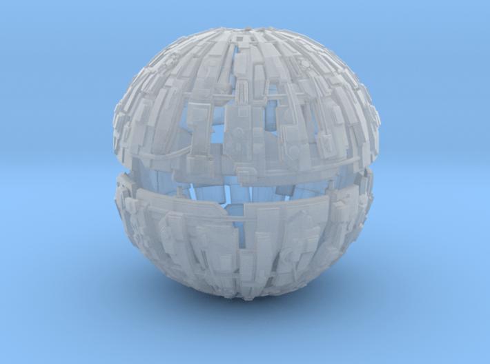 600m Cyborg Sphere 1/9000 Scale 3d printed