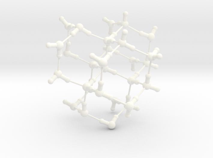 Water Molecule Matrix Model UniColor Plastic Large 3d printed