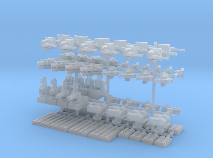 1/700 Modern Naval Weapons Pack 3d printed