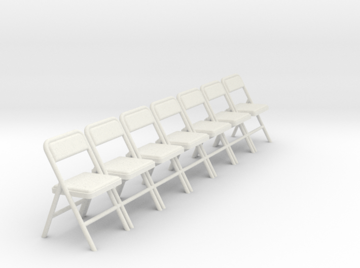 1:24 Group Folding Chairs (Not Full Size) 3d printed