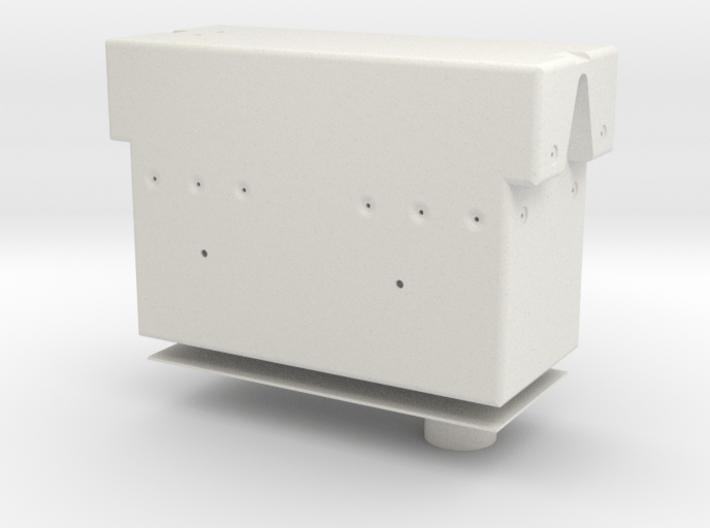 Rotational Control Housing 1:1 w/ Hole 3d printed