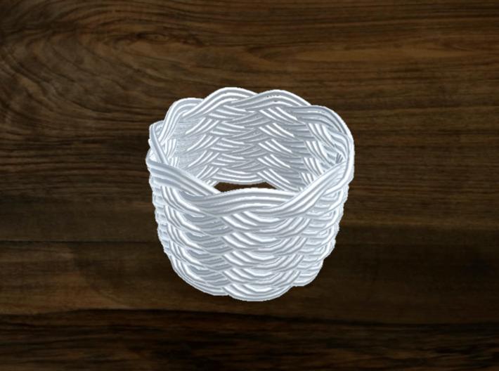Turk's Head Knot Ring 11 Part X 9 Bight - Size 14. 3d printed