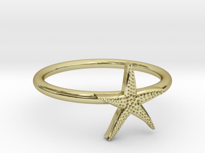 World's Best Starfish Midi Ring 3d printed