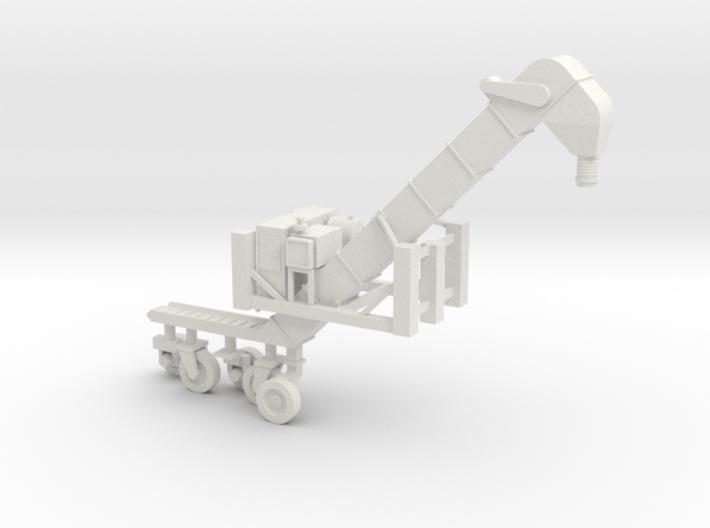 1/50 Conveyor Loader-Unloader (Transloader) 3d printed Please note, the wheels are on sprues for manufacture.