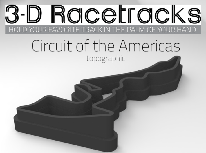 Circuit of the Americas   Topographic 3d printed