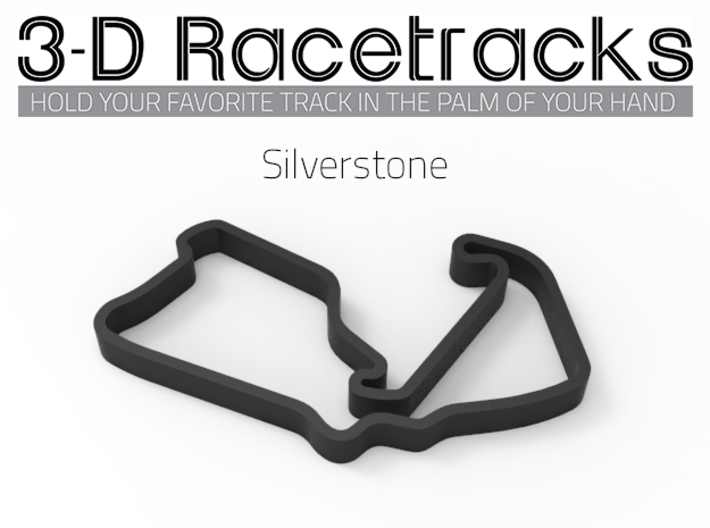 Silverstone 3d printed Track with no run off areas