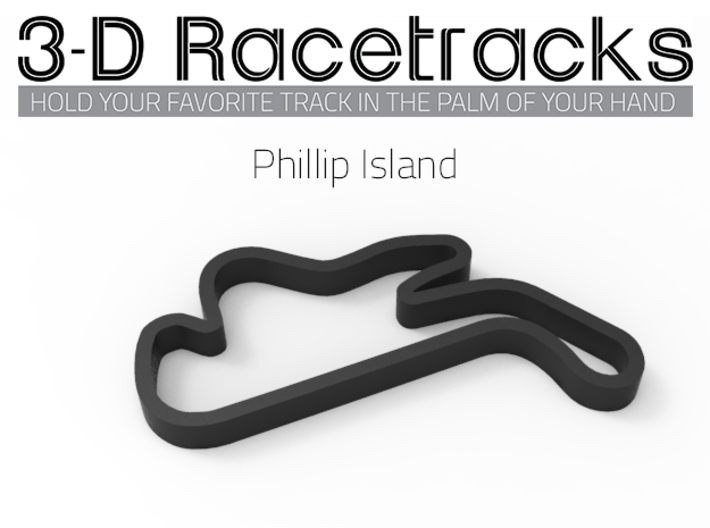 Phillip Island 3d printed Track with no run off areas