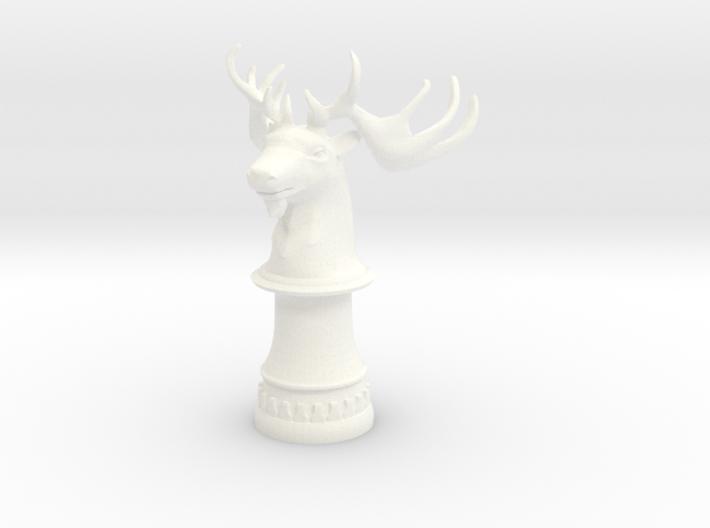 Wild Elk Knight (Round Base) 3d printed