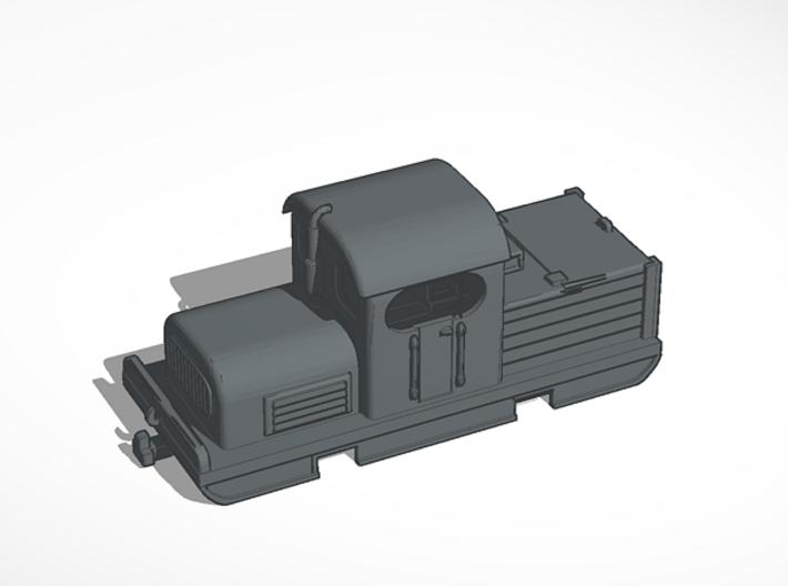 Industrial diesel model shunter H0e/H0n30 3d printed