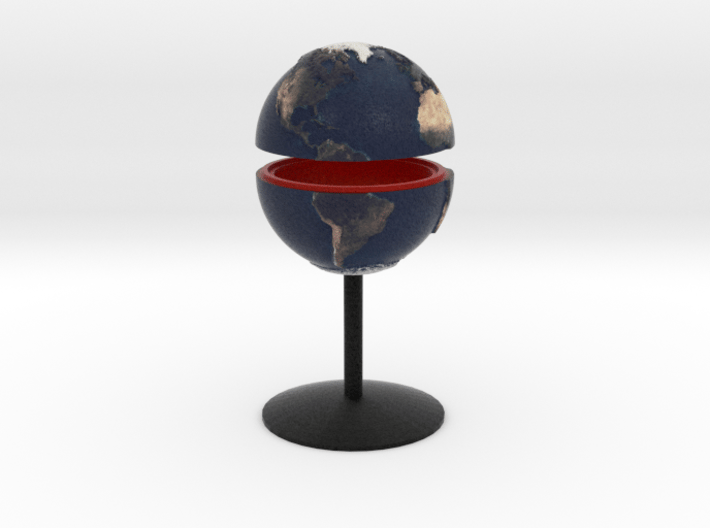 Tactile Miniature Earth With Stand 3d printed