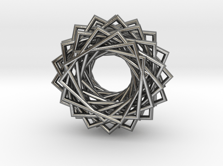 Twisted Ring Pendant - Part 2 3d printed