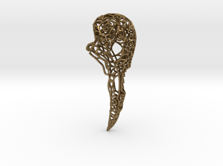 Bird Skull Filigree: 7cm 3d printed