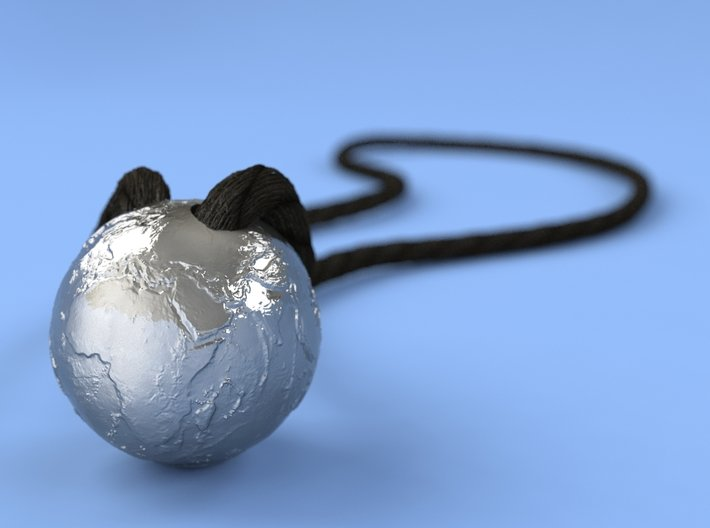 Earth Without Water (Pendant 20mm) 3d printed