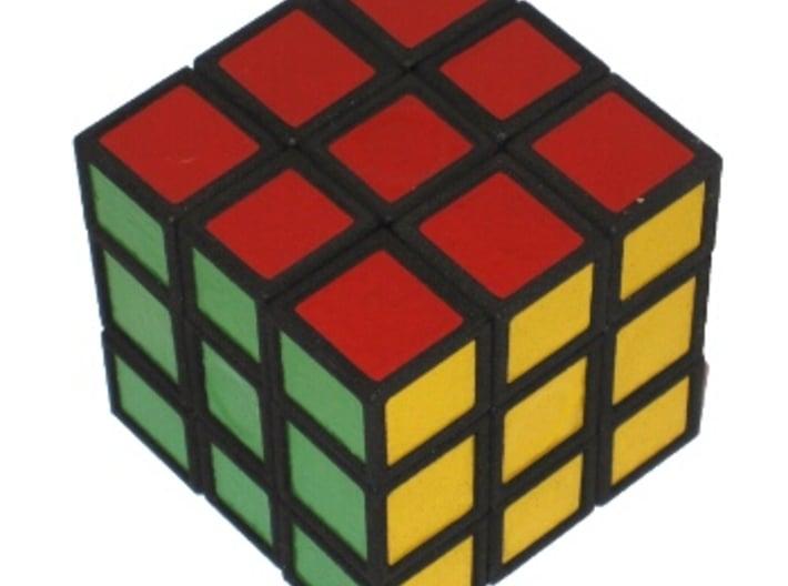 Half Turn Cube 3d printed Half Turn Cube