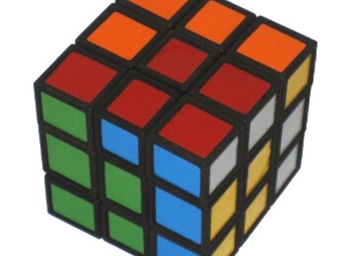 Half Turn Cube 3d printed Scrambled, making only half turns