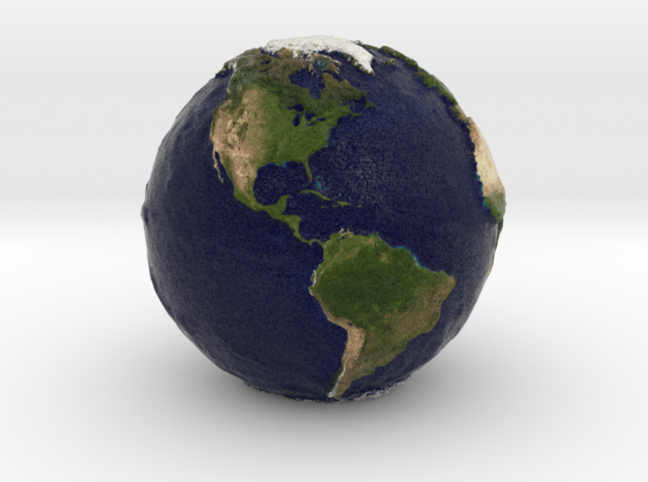 Tactile Miniature Earth 3d printed