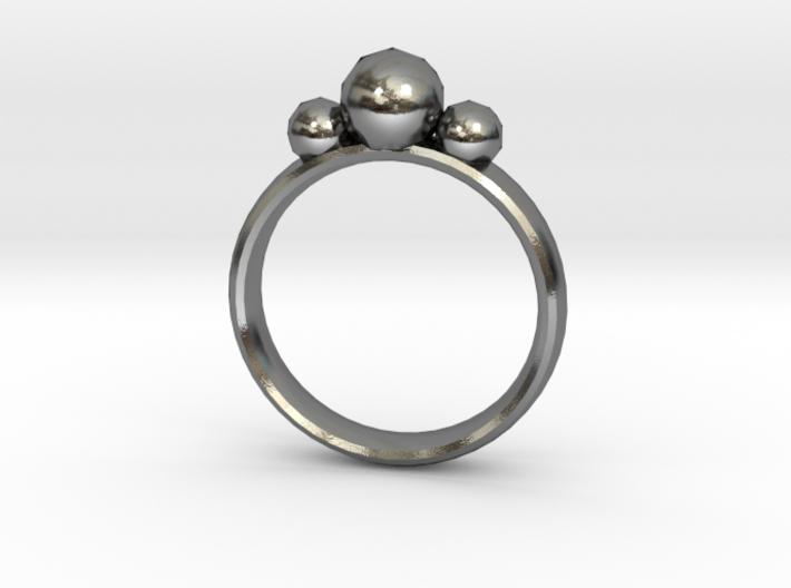 GeoJewel Ring UK Size R US Size 8 5/8 3d printed