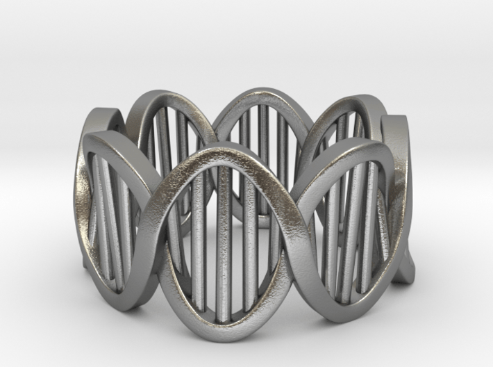 DNA Ring (Size 4) 3d printed