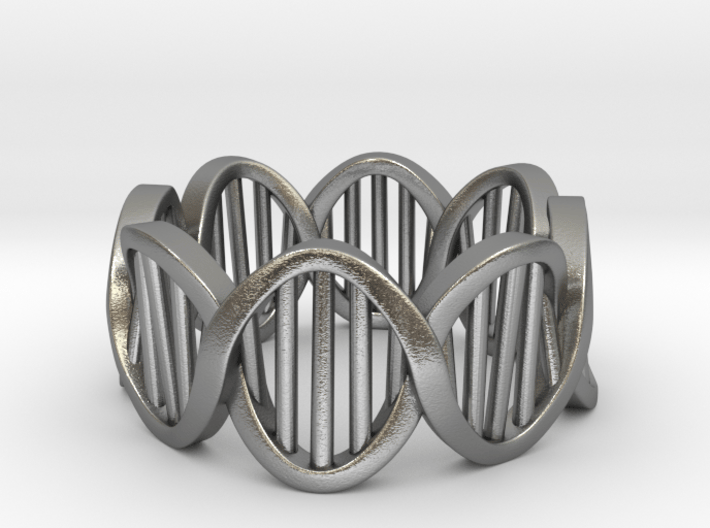 DNA Ring (Size 8) 3d printed