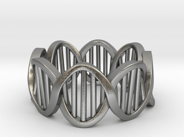 DNA Ring (Size 7) 3d printed