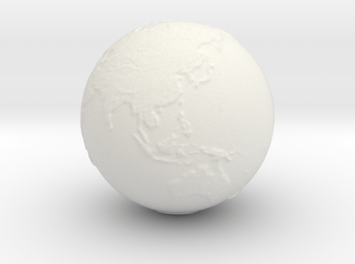 Earth Hollow Size 3 3d printed