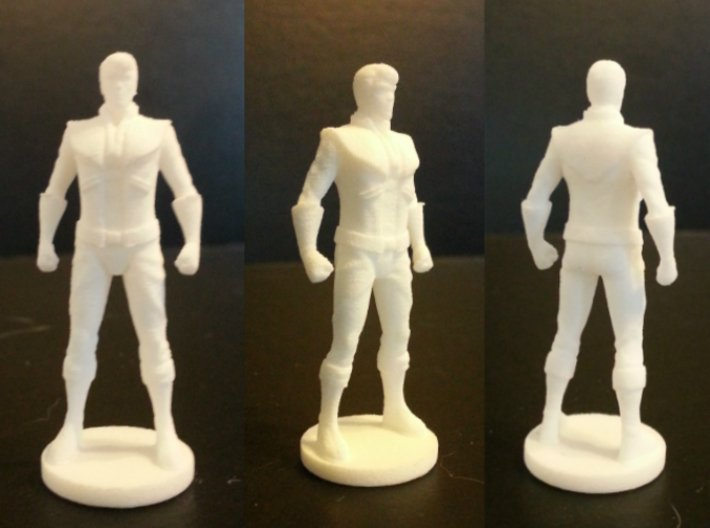 Spike homage Space Man 2inch Transformers Mini-fig 3d printed Spike Mini-Figure Printed in White Strong Flexible Polished