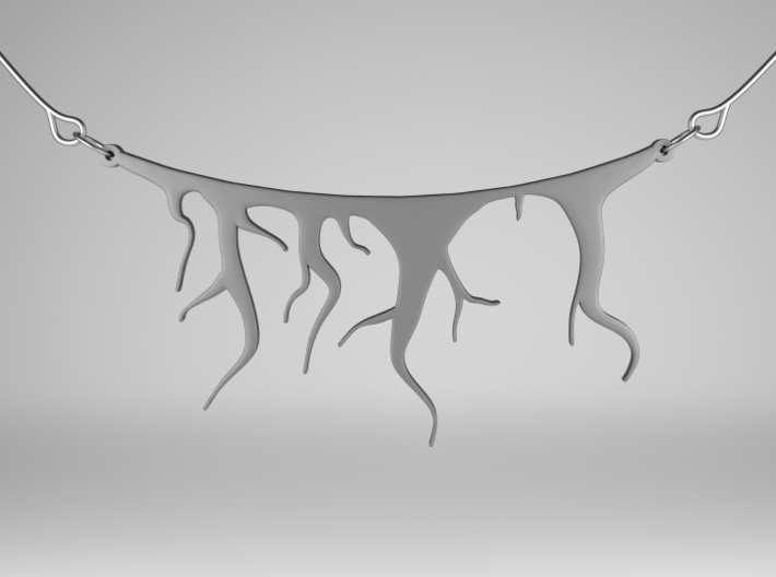 Roots Pendant 3d printed Stainless Steel