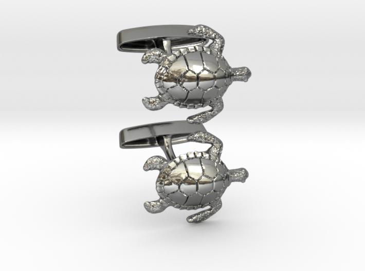 Turtle Cufflinks 3d printed