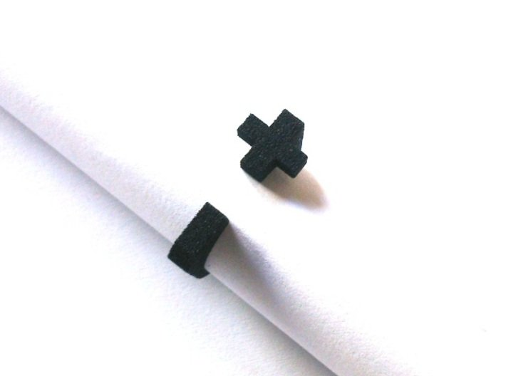 Realist cross ring size 8 U.S. 3d printed