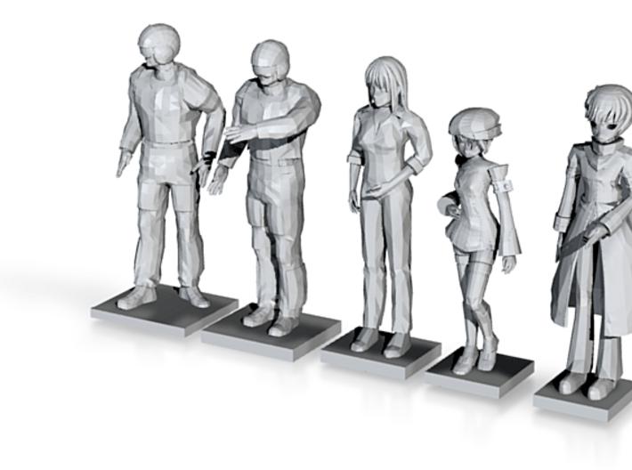 5 People 3d printed