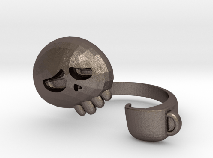 Coffee Drinker Ring - size 6.5 3d printed