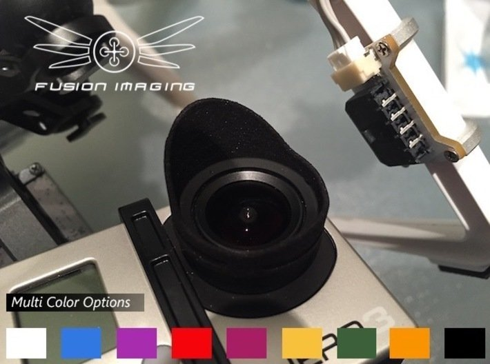 1x. GoPro Hero 3 / Hero 4 Lens Hood 3d printed GoPro Hero 3 Lens Hood