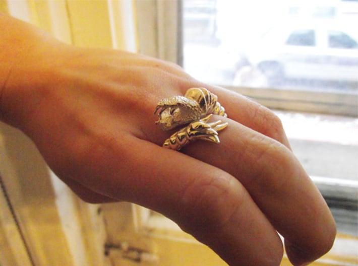Viper Fish Ring  3d printed