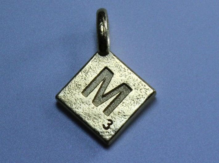 SCRABBLE TILE PENDANT M 3d printed