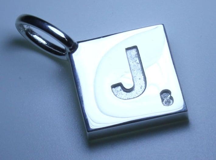 SCRABBLE TILE PENDANT J 3d printed