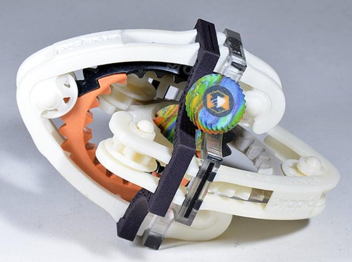 Geared Widget #4 of 5 3d printed