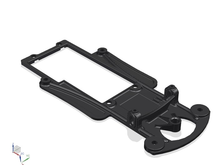 1/32 Fly Porsche 908 Chassis fits Slot.it SW Pod 3d printed CAD ISO View