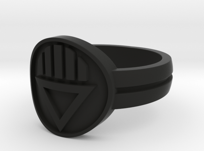 Black Death Double Banded (Sz 5-15) 3d printed
