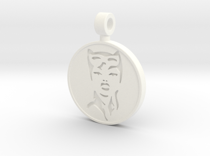 Catwoman Pendant 3d printed
