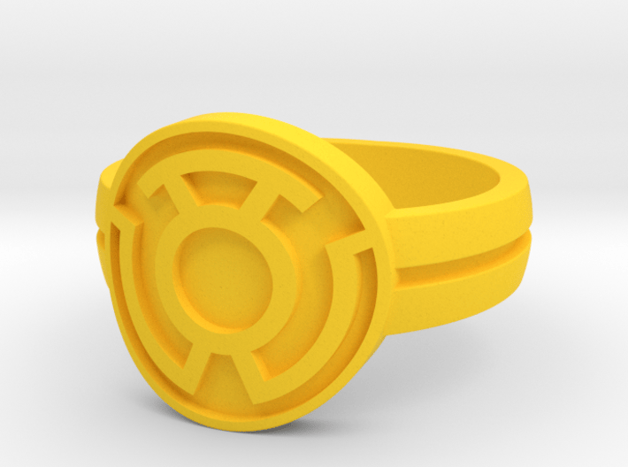 Sinestro Double Banded (Sz5-15) 3d printed